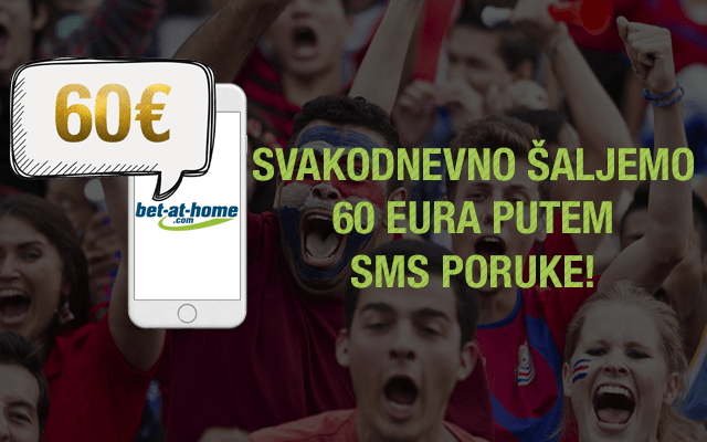 SVAKODNEVNO ŠALJEMO 60€ PUTEM SMS PORUKE!