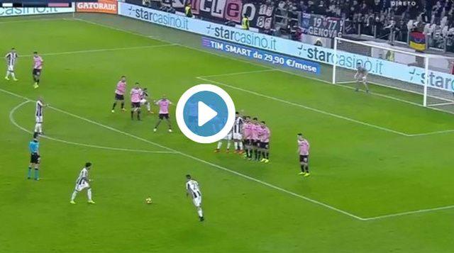 VIDEO: Nevjerovatan gol Paula Dybale iz slobodnog udarca protiv Palerma