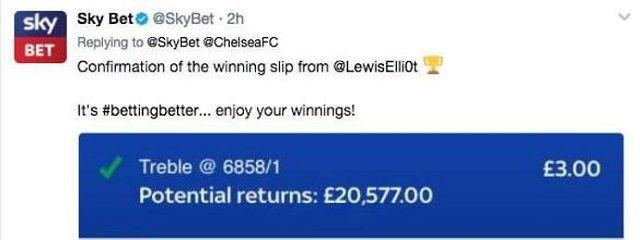 Nevjerojatan dobitak na kladionici: Čekao Chelseaja i dobio 20.577 funti