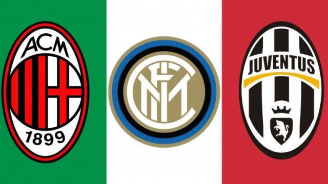 Juventus, Milan i Inter