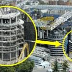 Tower Demolition – New Bernabeu 12 August 2021