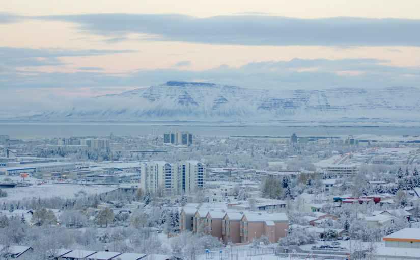 cold iceland snow city