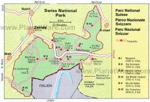 Swiss National Park Map