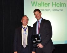 Walter Helm, 2012 Humanitarian of the Year with SVNIC President & CEO, Kevin Maggiacomo