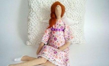 Беременная кукла Тильда, шьем по выкройке