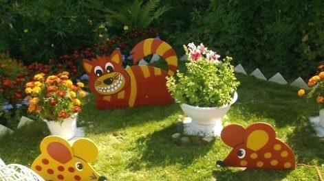 Поделки из фанеры для сада и огорода своими руками фото. Идеи