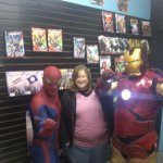 Allison with Spiderman and iron man