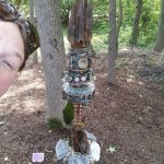 Bhk, Amy and I checked out fairy forts at Anne Marie gardens today