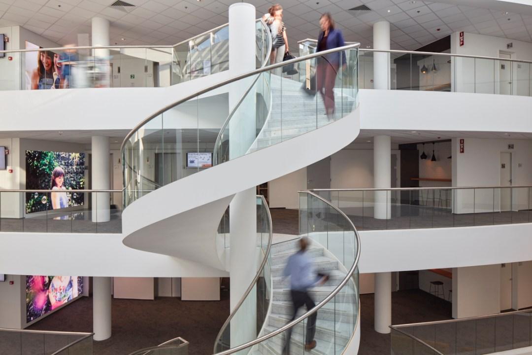 Spiraaltram N&P Building Procter & Gamble, Brussel