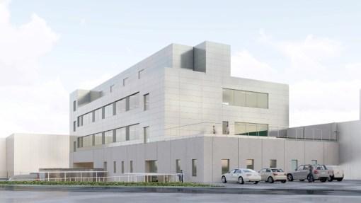 ALCON<br><span style='color:#31495a;font-size:12px;'>Nieuw hoofdgebouw site Puurs | Uitbreiding kantoren, opslagplaats en nieuwe laaddokkenfaciliteit  </span>