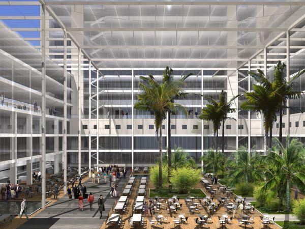 Rendering voor wedstrijd Gateway Brussels Airport