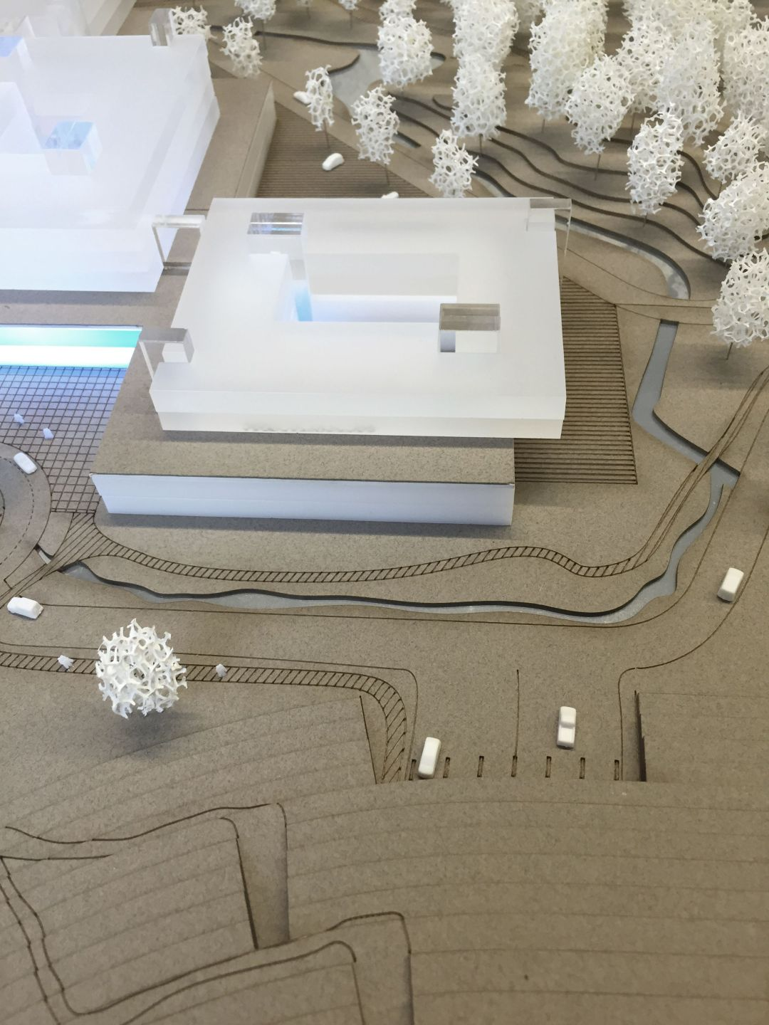 Competition design as part of Open Call 2901 / hospital, indoor car park, outdoor areas