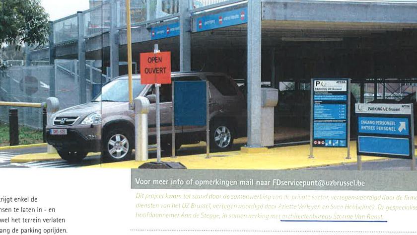 Nieuw parkingconcept voor het UZ Brussel. **