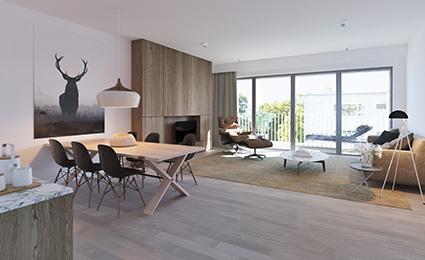Interior appartment Residential accommodation P. Benoitstraat (block E), under construction