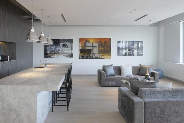Vergaderruimte voor klanten en personeel Bru Textiles, Kontich