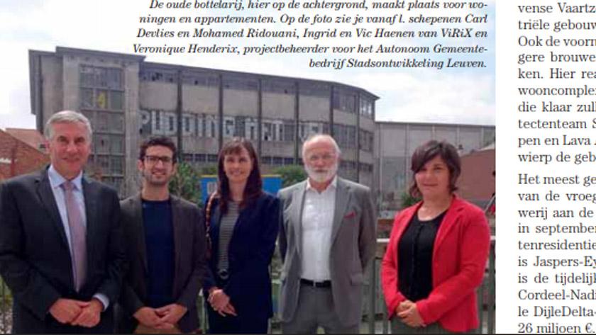 ViRiX begint aan nieuwe fase in DijleDelta-project Leuven