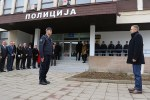 Načelnik PS Živković dočekuje ministra Stefanovića, foto: M. Miladinović