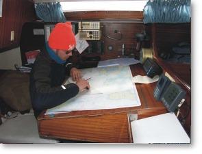 Arbeiten am Kartentisch