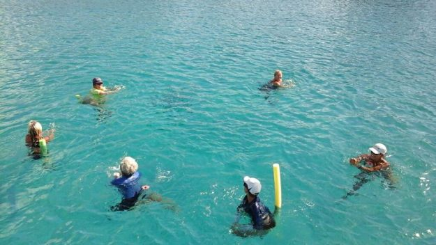 Noodling on the sea in Bonaire.