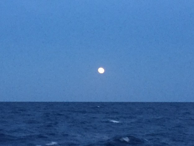 Almost a full moon lighting our way.