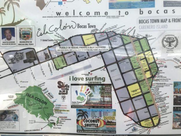 Bocas Town map