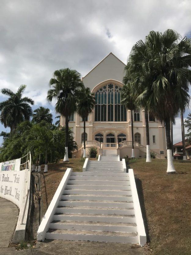Balboa Church posing as my Catholic Church, but in reality, just dwarfing it.