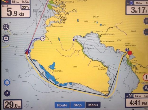 Golfito to Bahia Drake around the peninsula