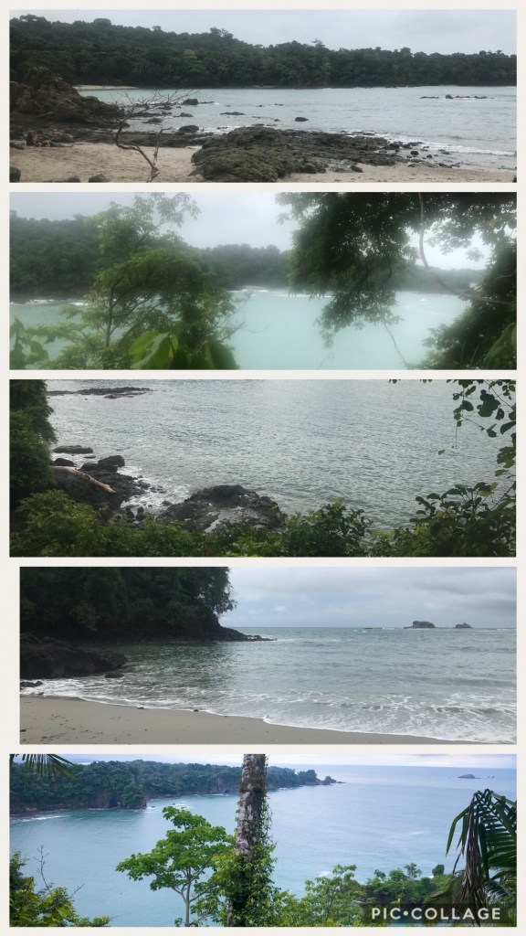 Beautiful sandy beaches at Manuel Antonio Park