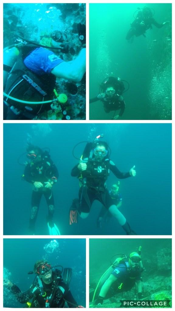 Diving Kicker Rock - descending to 90'