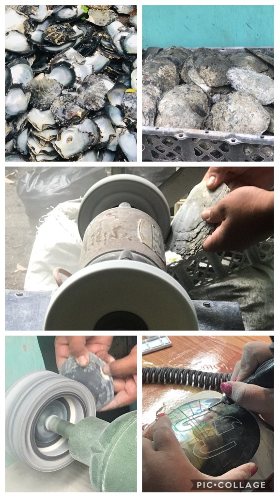 Process of Carving an Oyster Shell