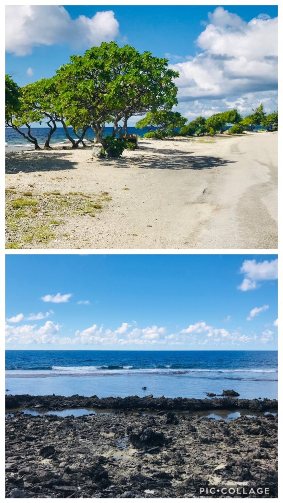 Main road and Pacific Ocean Shore in Hao