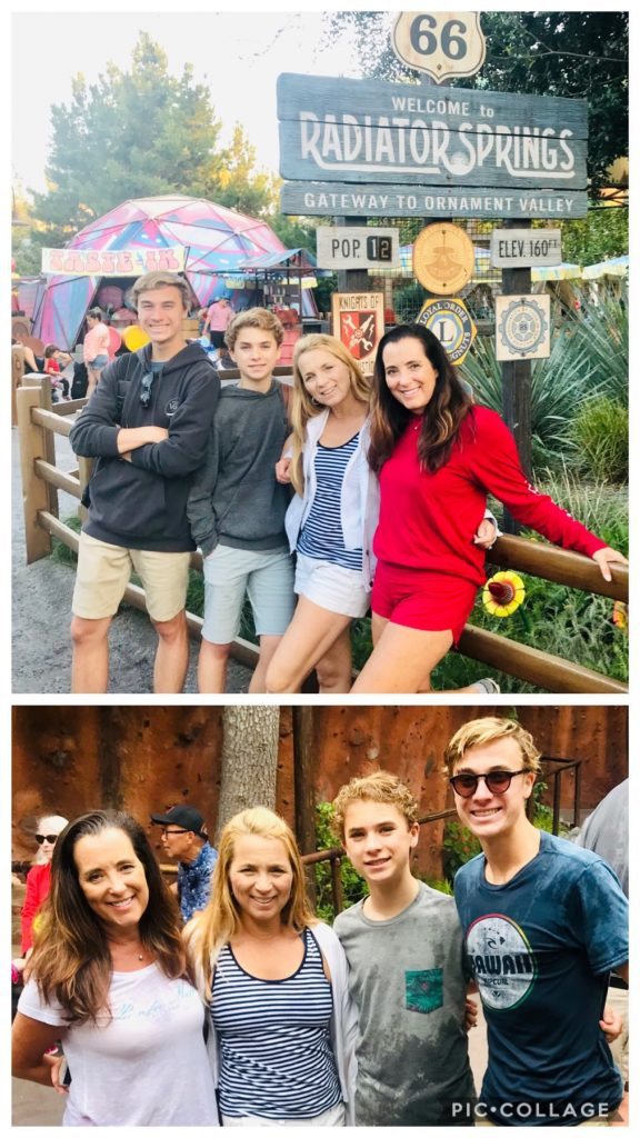 Cole, Cameron, Kimberly and I at Disneyland