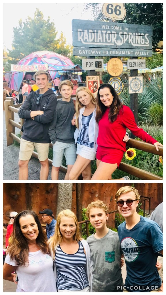 Cole, Cameron, Kimberly and I at Disneyland