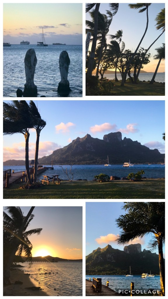Sunset shots on Bora Bora