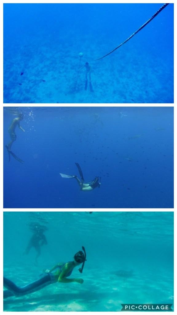 Josh and Rachel free diving