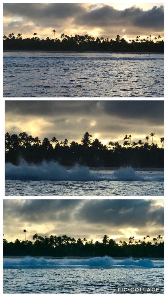 Sunrise over Teti'aroa