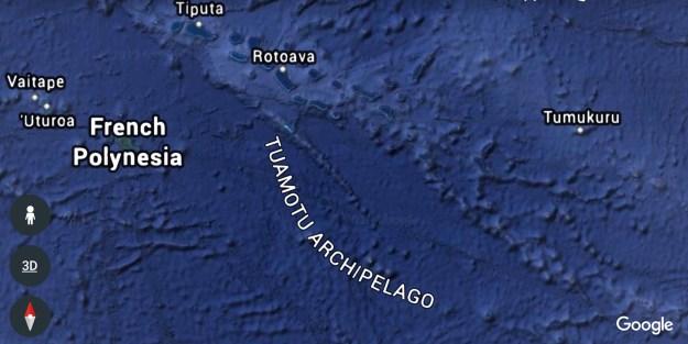 Google Earth Image of Tuamotus
