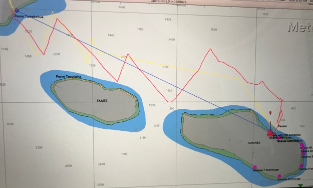 CPN Track of our sail