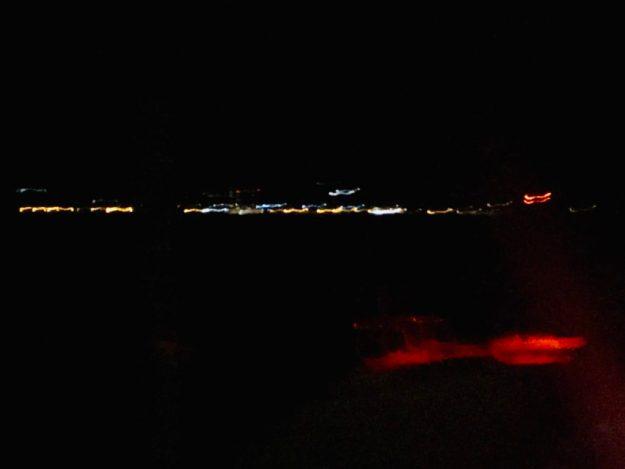 Village lights pre-dawn