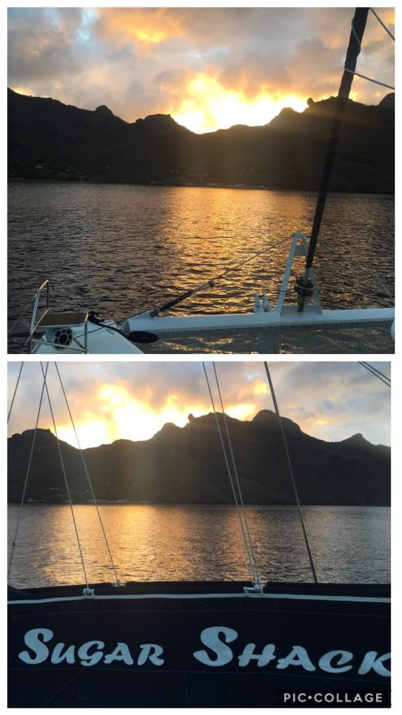 Sunsets in Baie de Vaiehu
