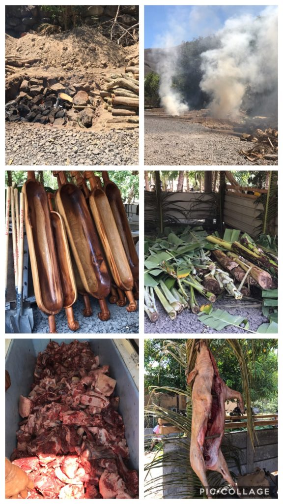 Preparing the Underground Pig Feast