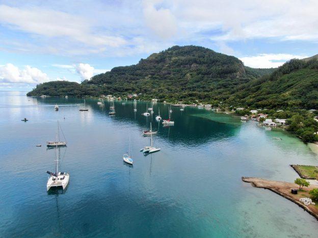 Sailboats return to Rikitea