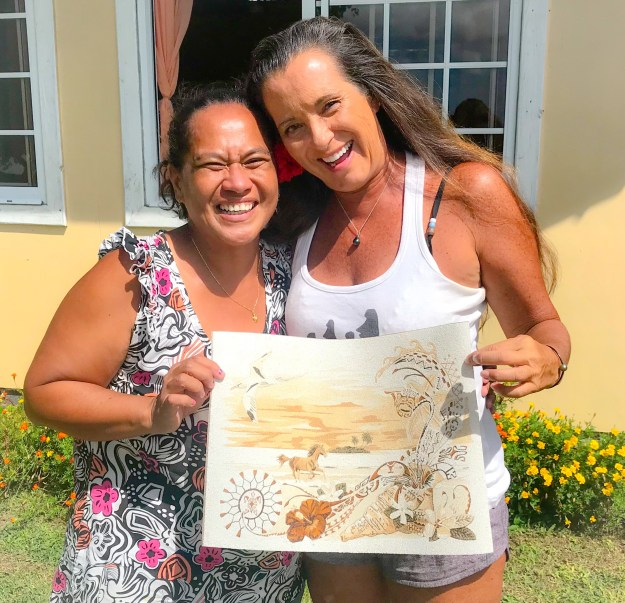 Valerie and I with my Sand Art