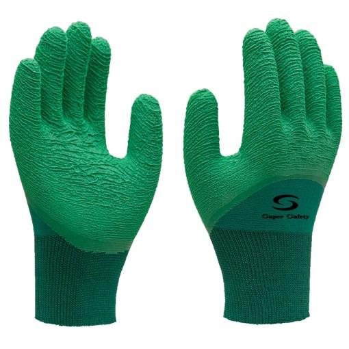 Luva de Malha com Látex Super Safety - Verde