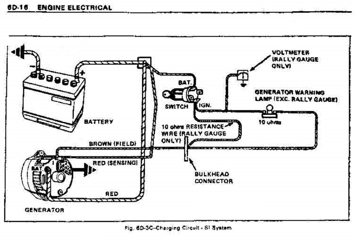 One Wire Gm Alternator Wiring Diagram