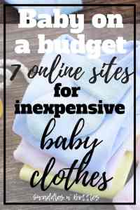 7 Websites for Inexpensive Baby Clothes