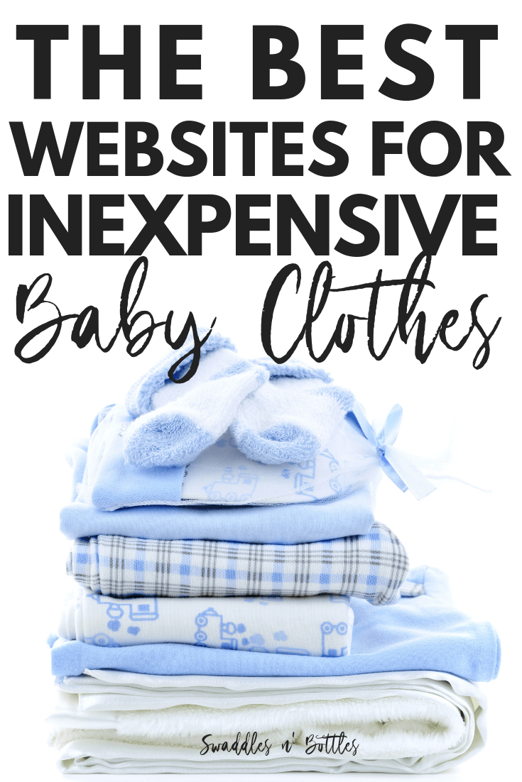 Where to shop online for the best clearance and discounted baby clothes.  Great list of stores for any mama who is preparing for baby on a budget.