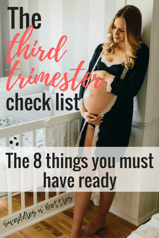 The Third Trimester Checklist. Every thing moms-to-be need to do!