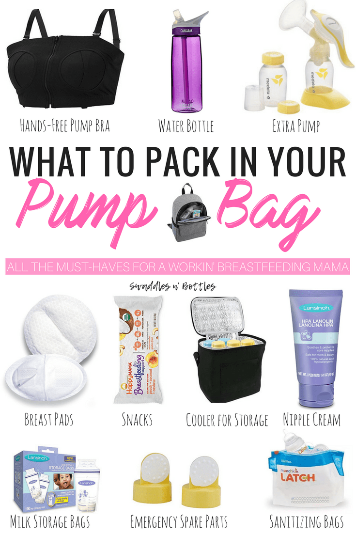 What to pack in your pump bag when you return to work full time. Breastfeeding mama must read!