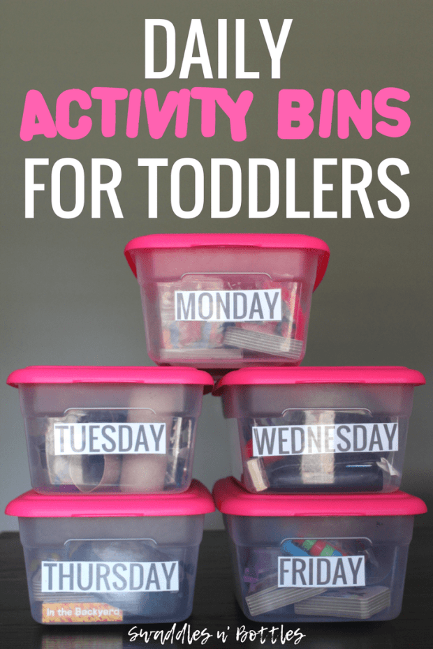 Daily Activity Bins for Toddlers and one year olds 1